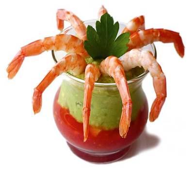 C ctel de gambas aguacate y tomate fresco - Coctel de marisco con aguacate ...